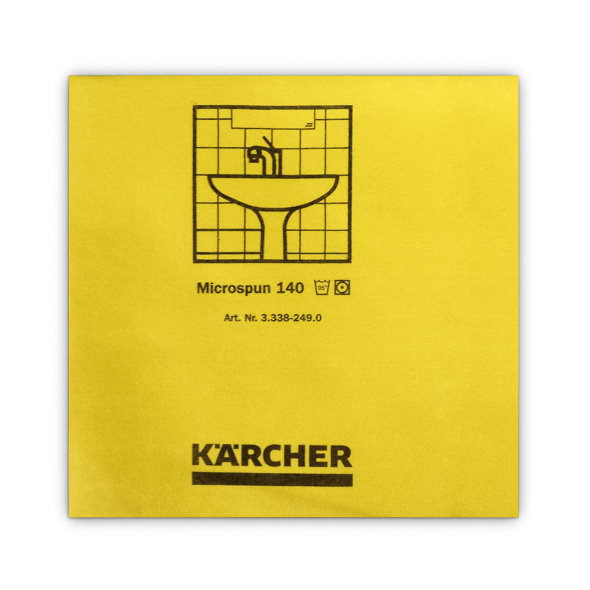Mikrofasertuch Microspun gelb